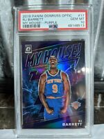 2019 Panini OPTIC MY HOUSE! PURPLE PRIZM RJ Barrett Rookie PSA 10 GEM Mint RC