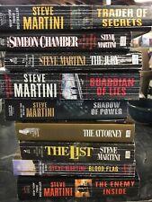 Lot Of 9 Steve Martini Paperbacks