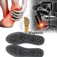 1Pair Shoe Gel Insoles Feet Magnetic Therapy Health Care Comfort Pads Foot Relax