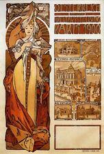 Repro Art NouveauPrint  ' Austria ' by Alphonse Mucha