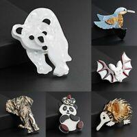 Fashion Acrylic Animal Elephant Panda Brooch Pin Womens Wedding Jewellery Gift