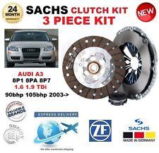 Pour Audi A3 8P1 8 Pa 8P7 1.6 1.9 TDi 90bhp 105bhp 2003 - > Sachs 3 Piece Clutch Kit