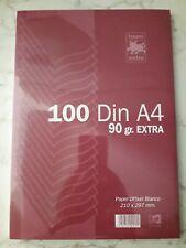 Paquete folios papel Blanco TAURO EXTRA 90 gr gramos Din-A4 100 Hojas