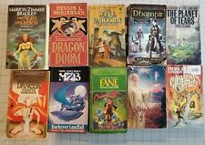 Lot of 10 Fantasy Paperback Books Vintage PB