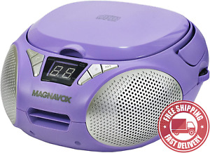 MAGNAVOX  MD6924 - PL  Portable  Top  Loading  CD  Boombox  with  AM / FM  Stere