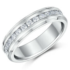 Titanium Ring Eternity Ring Full Eternity High Polished Solid Titanium Band 6mm