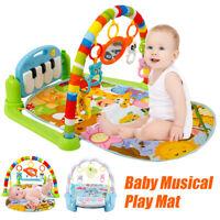 4 en 1 Bebé Música Alfombra Fitness Piano Play Mat Manta Actividad Gimnasio