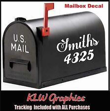 Custom Last name Mailbox Home Decor Vinyl Decals Stickers Home Family Window
