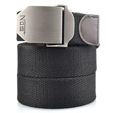 Mens military canvas web waist belt Metal tactical buckle Casual/Sports/Outdoor