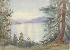 Pallanza, Lake Maggiore, Italy – Original 1904 watercolour painting