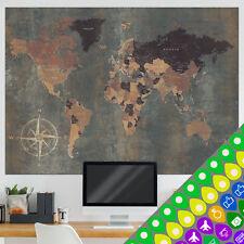 Weltkarte Poster xxl Wandbild Wanddeko Globus antik vintage retro k-A-0361-af