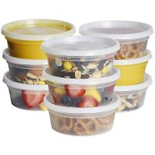 8 oz. Deli Food Storage Containers With Airtight Lids - Slime Containers