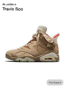 Nike Air Jordan 6 Travis Scott British Khaki Mens Size 12