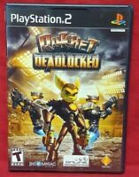 Ratchet Clank Deadlocked  PS2 Playstation 2 COMPLETE Game 1 Owner Near Mint Disc