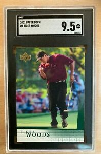 Tiger Woods #1 ROOKIE 2001 Upper Deck SGC 9.5 MINT Beauty Great Investment Hot $