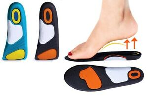 Gel Active Orthotic Shoe Insoles Arch Support Inserts Plantar Fasciitis Sports