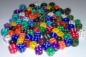 16mm Dice x 200 Opaque Board Games RPG Counters Bulk Wholesale