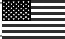 Black and White USA United States Flag American Protest Banner Pennant 3x5 Foot