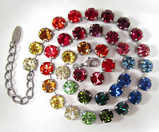 SoHo® Kette Halskette Collier Kette Regenbogen Kristalle bunt rainbow kunterbunt