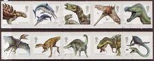 Grande-Bretagne 2013 Dinosaures Ensemble de 10 in 2 adhésif bandes