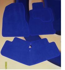 VW GOLF GTi MK4 BRIGHT BLUE CAR MATS 97-04 WITH 4 OVAL LOCATOR CLIPS SET OF 4 B