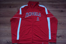 LOS ANGELES ANGELS NEW MLB MAJESTIC HOME FIELD ADVANTAGE TRACK JACKET