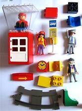 Lego DUPLO Konvolut Dachbodenfund Haltestelle Bahnhof Schaffner Opa Uhr