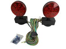 12V LED Magnetic Towing Lights Kit Trailer RV Boat Dolly Brake Lights L.E.D