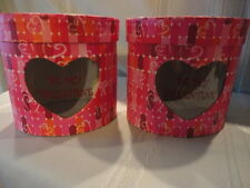 Be My Valentine Oval Heart Cardboard Containers New Unused