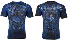 Xtreme Couture By Affliction Manga Curta T-shirt Mens honorável Azul S-3XL Novo com etiquetas