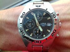 Lorus Seiko Vintage Collection Chronographe Ym92-x015 Montre NOS Rare Horloge