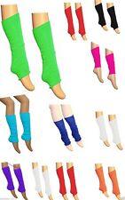 Pack OF Girls Luxurious Kids  80's Plain Ribbed Leg Warmers Legwarmers Job Lot