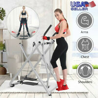 Fodable Glider Elliptical Exercise Machine Fitness Home Gym Workout Air Walker