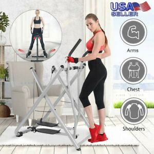 Glider Elliptical Fodable Exercise Machine Fitness Home Gym Workout Air Walker