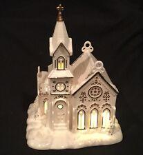 Lenox MISTLETOE PARK Series VILLAGE CHURCH Building / Figurine Lights Up ~NIB!
