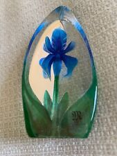 Mats Jonasson Miniature Lily Blue Figurine 88152 - Brand New!