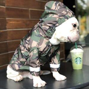 Newly Pet Coat Dog Camo Clothes Puppy Cat Rain Coat Waterproof Wind Jacket