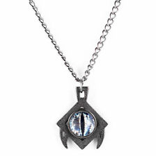 Rogue & Wolf Slate Steel Draco Dragon eye Necklace, grunge, witches, gothic goth