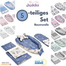 5tlg Baby Nestchen 2-seitig Kokon + Matratze 2xKissen Decke 100% Baumwolle ✨SET
