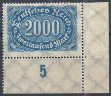 Queroffset MiNr. 253a mit Handbuchplattenfehler Nr. 60 aus Ecke 4 postfrisch