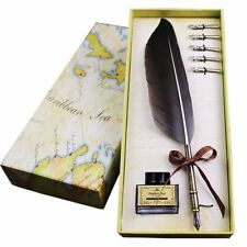 Quill Pen And Ink Goose Feather Luxury Antique Writing Quill Pen Set without Ink