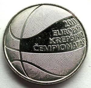 LITHUANIA 1 LITAS 2011 UNC KM#177 European Basketball Championship. K10.3
