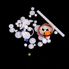 60 pcs Plastic Gear Set DIY Rack Pulley Belt Worm Single Double Gears DSUK