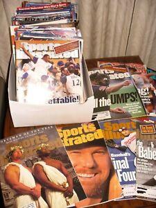 1997- 2012 SPORTS ILLUSTRATED MAGAZINEs 64 magazine Baseball covers
