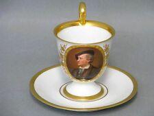 """Hutschenreuther Porträt Tasse mit UT """"Richard Wagner"""" cup and saucer um 1914"""