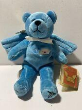 Holy Bears Nurse Angel Bear Blue Plush 2001 Wings Medical First Responder New