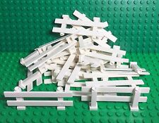 LEGO X20 Pieces New White Fence 1x8x2 2/3 / Friends Home Garden Rail Fences Part