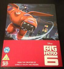 BIG HERO 6 3D Blu-Ray SteelBook Zavvi UK Exclusive 2-Disc Set Six ABC OOP & Rare