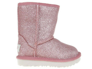 Kinder Boots Stiefel UGG Classic Short II Glitter 1098491T-PINK