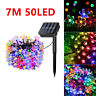 50 LED Solar Powered Fairy String Flower Light In/Outdoor Garden Brithday Party